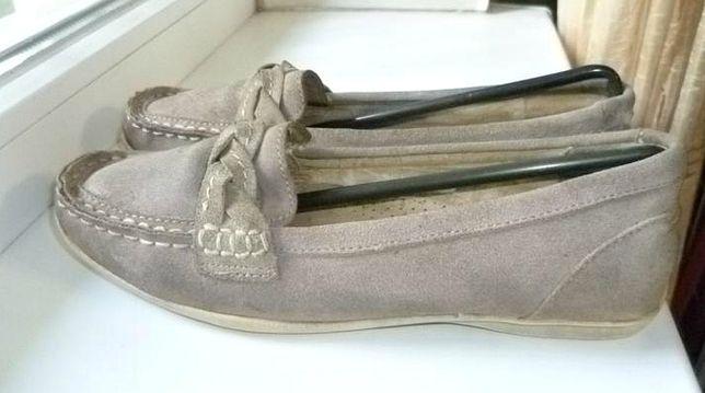 Кожаные натуральные туфли Footglove на низком ходу,мокасины