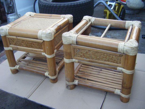 Bambus Krzesla , Stolki Z Bambusa 2 sztuki