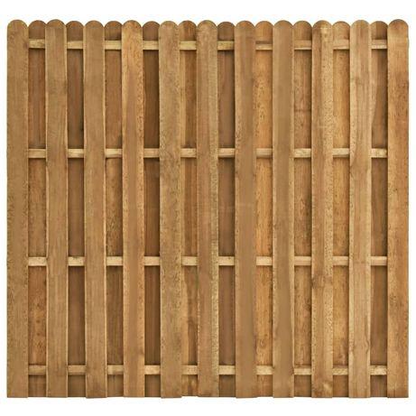vidaXL Painel de vedação em madeira de pinho 180x170 cm 49012