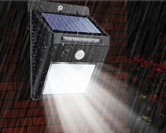 Светильник на солнечной батарее с датчиком движения 20 LED опт