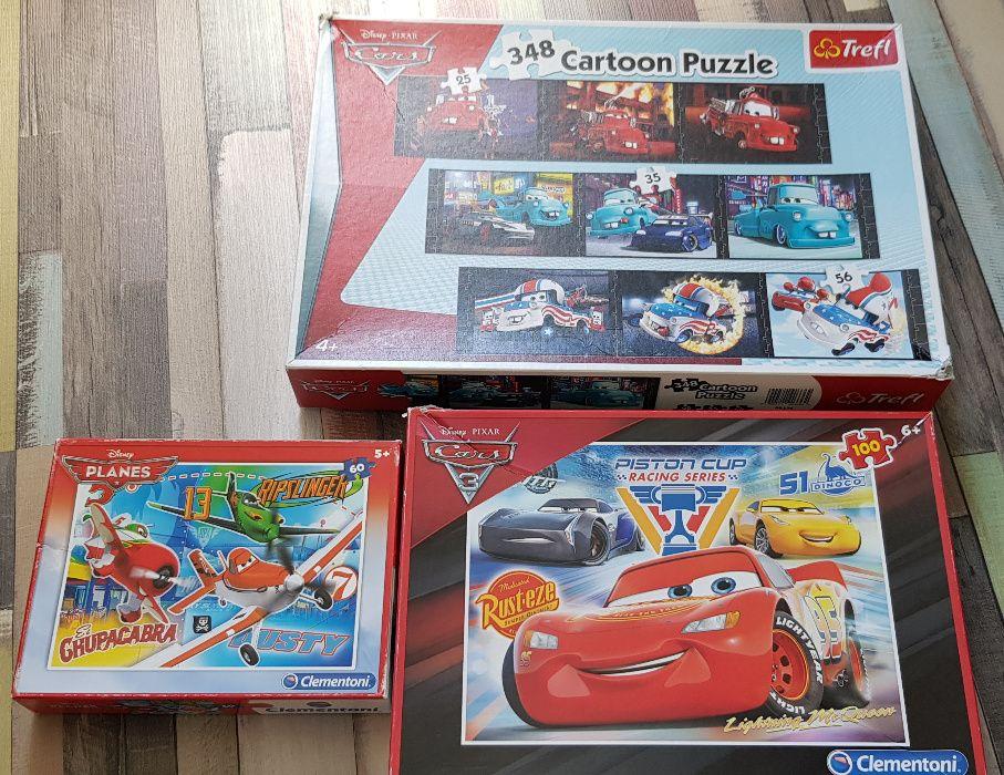 Zestaw puzzli Trefl, Clementoni, Cars, Dusty, Złomek Piaseczno - image 1