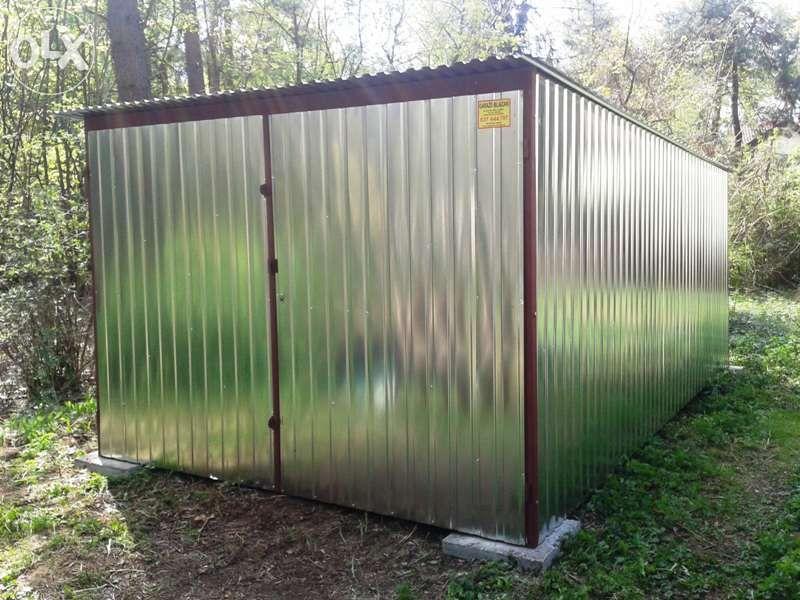 Garaż Blaszany Konstrukcje Stalowe Garaże Blaszane Blaszaki Wiaty Boks Piaseczno - image 1