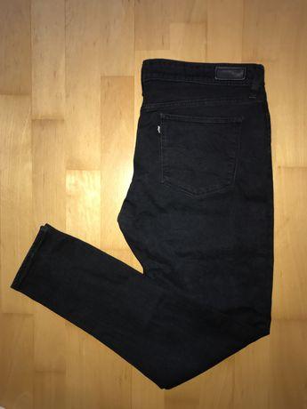 Spodnie jeansy levis czarne demi slim fit M W32 L32