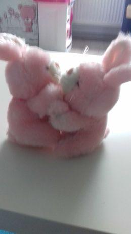 Dwa ruchome króliczki maskotki