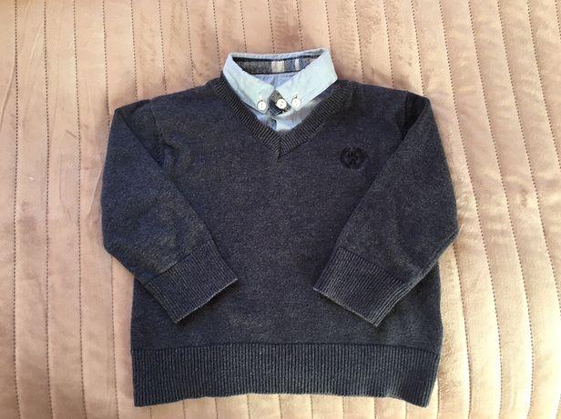 Sweter z koszulką jH&M dla chłopca r.86 cm