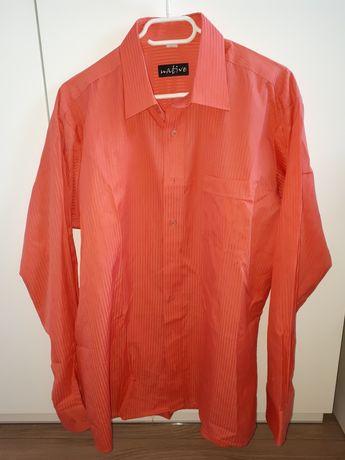 Brzoskwiniowa koszula męska rozmiar 42