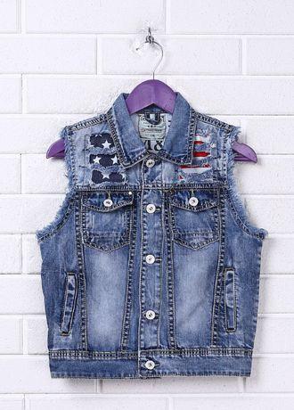 Фирменная джинсовая жилетка