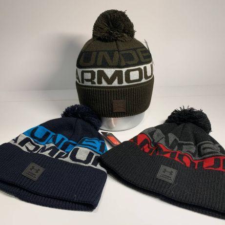 Зимняя шапка Under Armour в разных цветах - листайте фото (двойная)