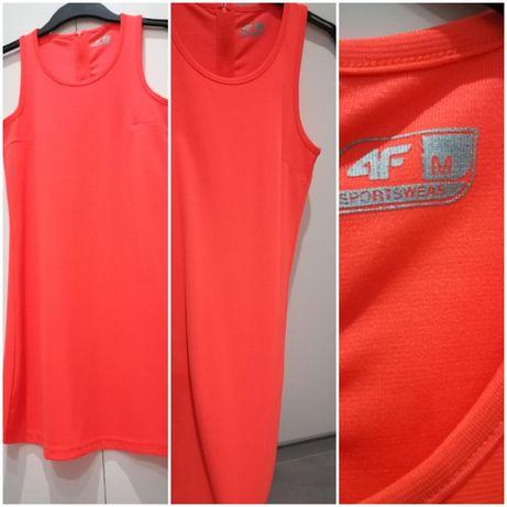 4f neonowa sportowa sukienka