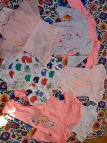 Paka nowych ubranek niemowlęcych  10 szt. 62 68 dziewczynka +gratisy