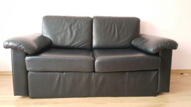 Sofa rozkładana skóra naturalna