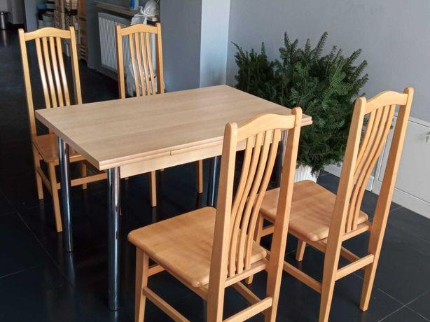 STÓŁ Kuchenny 4 krzesła KOMPLET Jadalniany Solik Rozkładany Krzesło x4