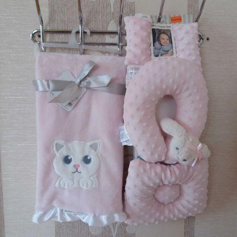 Новий Пледік на подарунок, від blankets& beyond pink kitten.