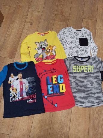 Koszulki i bluzki na długi rękaw stan bardzo dobry r. 128