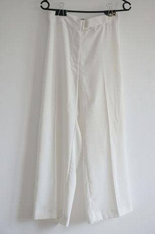 Białe spodnie kuloty culotte wysoki stan River Island XS