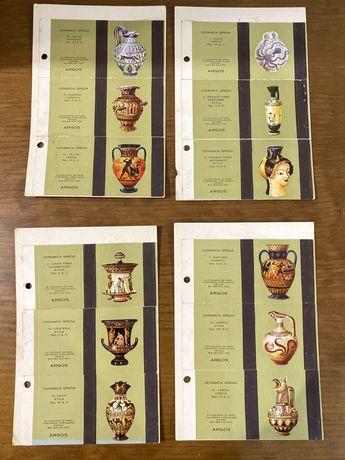 Coleccao de 12 caixas de fosforos ceramica grega anos 70
