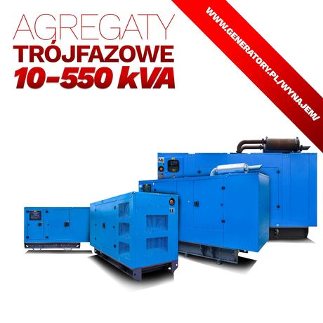 AGREGAT prądotwórczy wynajem wypożyczalnia 2-550 kVA od 35 zł/dzień