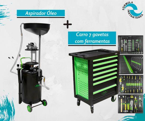 Aspirador óleo + Carro 7 gavetas com ferramentas