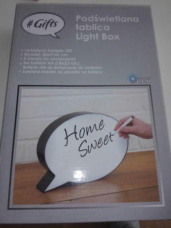 Sprzedam podświetlana tablicę light box NOWA