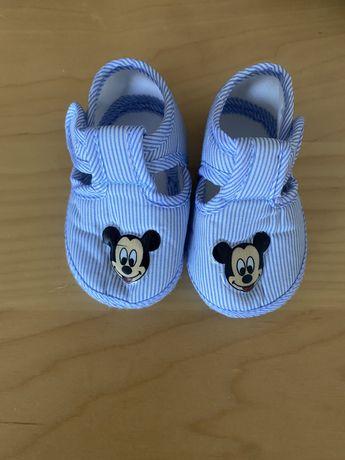 Sandalia azul bebe menino Mickey
