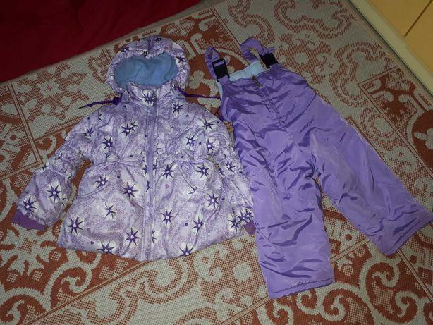 Зимний раздельный комбинезон для девочки, 86 размер
