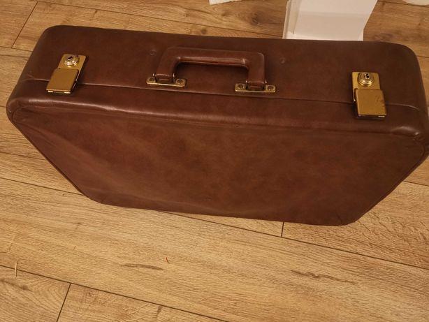 Stara walizka brązowa Vintage PRL