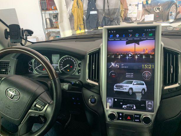 """Штатная магнитола Tesla Style Toyota Land Cruiser 200 2016+ 16"""""""