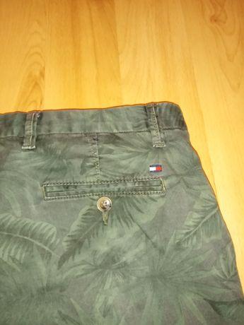 Męskie zielone spodnie Tommy Hilfiger