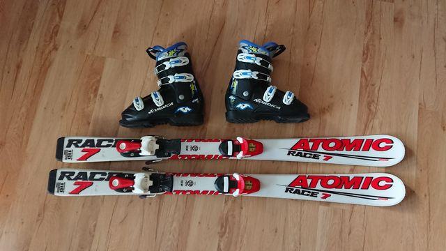 Narty 110cm ATOMIC Race 7 + wiązania Atomic RACE 045