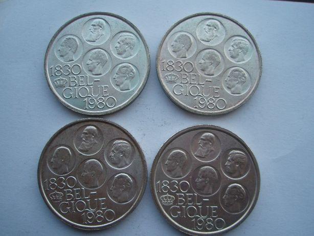 Zestaw 8 sztuk 500 franków 1980 Belgia