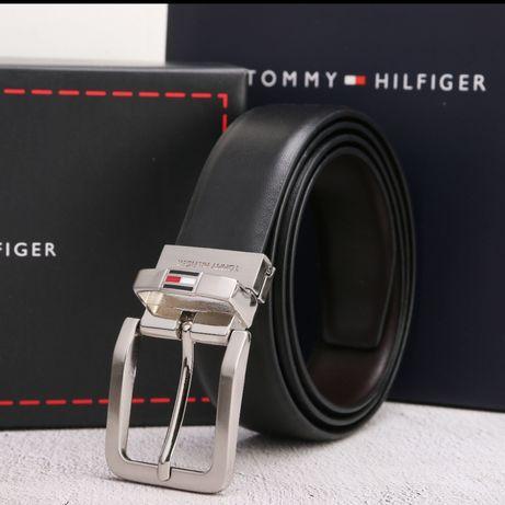 Zestaw Tommy Hilfiger pasek, porftel skóra prezent