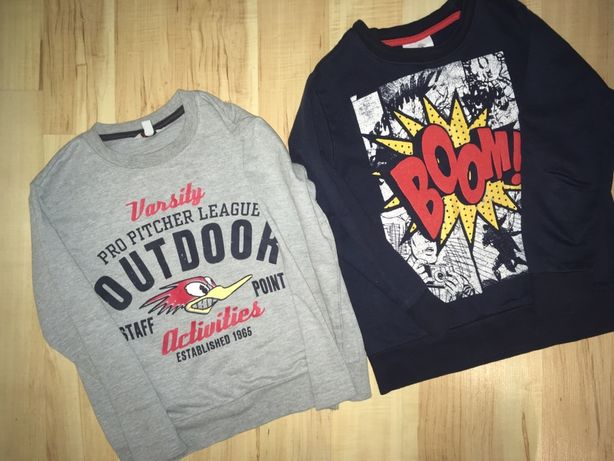 bluza szara i granatowa 116 122 jak angry birds boom