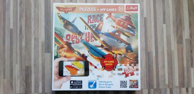 Puzzle Planes 2 samoloty 2 Trefl 5+ 100 elementów + aplikacja