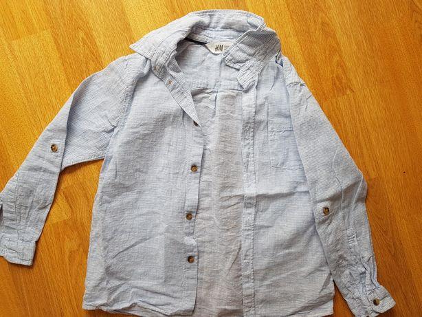 Koszula lniana h&m