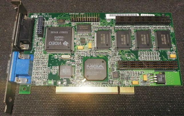 MATROX Millenium II PCI, 4 MB, retro karta graficzna, 1997r.