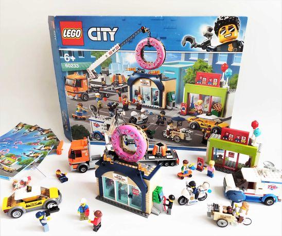 Lego City 60233 Donut shop opening открытие магазина (100% полный)