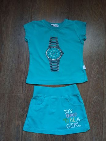 Продам летний костюм на девочку р.98 , фирма WANEX (Турция), бирюзовый
