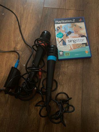 Zestaw Mikrofony Sony + Gra Singstar PS2 PL Łódź Śródmieście