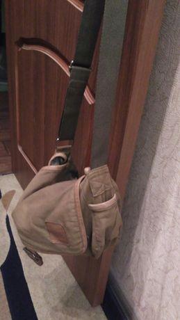 Продам срочно сумку zara стиль милитари ,цвет хаки