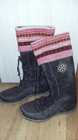 Kozaki buty zimowe do pół łydki 38.