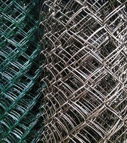 Сетка рабица, оцинкованная, с покрытием пвх, под забор, ограждение
