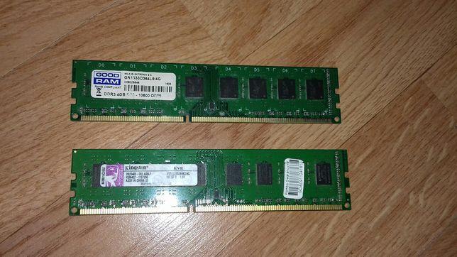 Kości RAM-u DDR3 2GB I 4GB