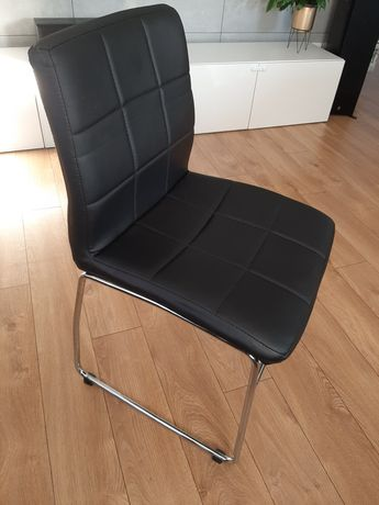 Krzesła JYSK HAMMEL czarne + chrom