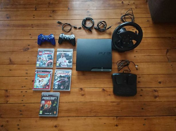 PlayStation 3 slim + gry + dodatki