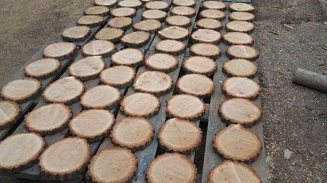 Plastry plaster drewna brzozy grab dąb 20-23 cm gr2