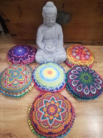 Śliczna nowa poduszka siedzisko mandala joga medytacja+ wkład łuska gr