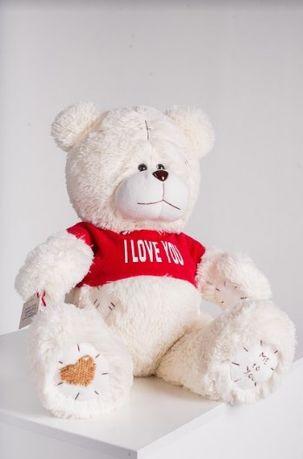 Мягкая игрушка - плюшевый медвежонок в футболке 70 см. Подарок