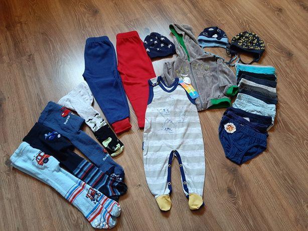 Paka ubrań chłopiec rozm. 74-87 cm
