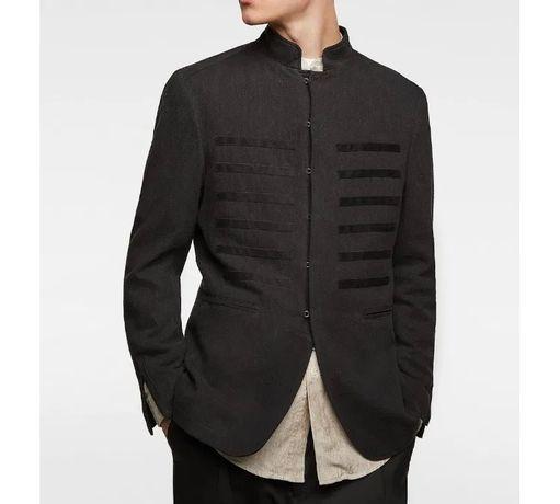 Zara czarna marynarka kurtka wstawki S