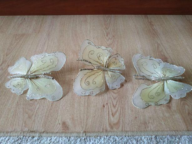 Бабочки украшения на клипсах